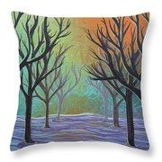 Winter Solitude 11 Throw Pillow