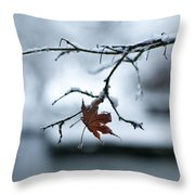 Winter Solo Throw Pillow