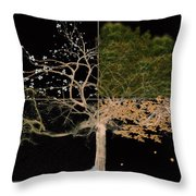 Winter Spring Summer And Fall Throw Pillow