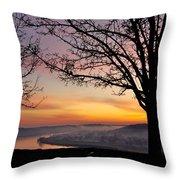 Winter Sunrise In Eden Park Throw Pillow