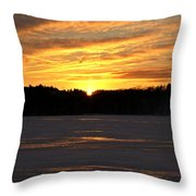 Winter Sunset II Throw Pillow
