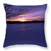 Winter Sunset IIi Throw Pillow
