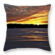 Winter Sunset Iv Throw Pillow