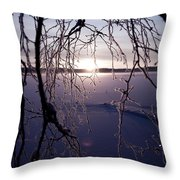 Winter Sunset Throw Pillow