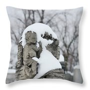 Winter Tombstone Throw Pillow