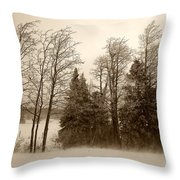 Winter Treeline Throw Pillow