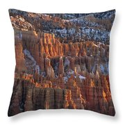 Winter View Of Bryce Canyon National Throw Pillow