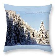 Winter Wonderland Austria Europe Throw Pillow by Sabine Jacobs