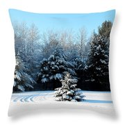 Winters Beauty Throw Pillow