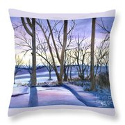 Winter's Eve Throw Pillow