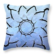 Winter's Flower Throw Pillow