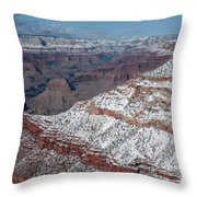 Winter's Touch At The Grand Canyon Throw Pillow
