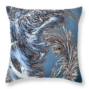 Wintry Pine Needles Throw Pillow