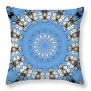 Wire Flowers And Butterflies Throw Pillow