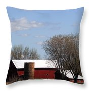 Wisconsin Farm Throw Pillow