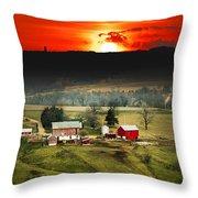 Wisconsin Farm Throw Pillow