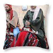 Wisemen On Their Camels Throw Pillow