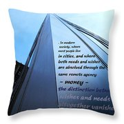 Wishes And Needs Throw Pillow