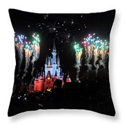 Wishes At The Magic Kingdom Throw Pillow