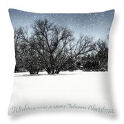 Wishing You A Very Merry Christmas Throw Pillow