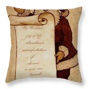 Wishlist For Santa Claus  Throw Pillow by Georgeta  Blanaru