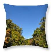 Wissahickon Blue Skies Throw Pillow