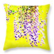 Wisteria Abstract Throw Pillow