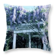 Wisteria In Bloom  Throw Pillow