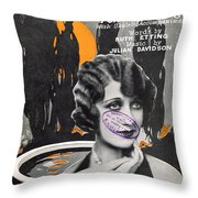 Wistful And Blue Throw Pillow by Mel Thompson
