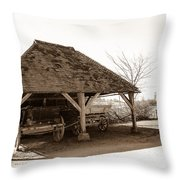 Wiston Wagon Shed Throw Pillow by Dawn OConnor