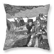 Witch Burning, 1555 Throw Pillow by Granger