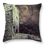 Witch Tower Throw Pillow