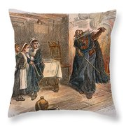 Witch Trial: Tituba, 1692 Throw Pillow by Granger