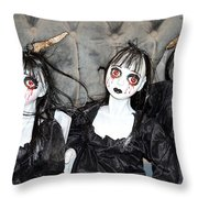 Witches Of Hallow's Eve Throw Pillow