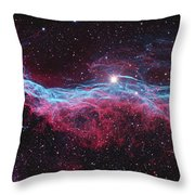 Witchs Broom Nebula Throw Pillow