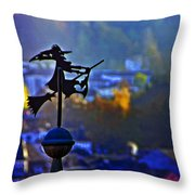 Witch's Ride Throw Pillow