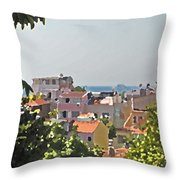 With A Seaview Throw Pillow