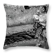 With Hands Held Tightly Throw Pillow