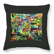 With Heavenly Assistance Throw Pillow