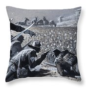 With His Men Concealed Fetterman Waited For The Marauding Indians Throw Pillow
