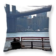 With Ny In Front Of Me Throw Pillow