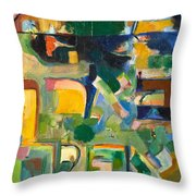 With Patience Throw Pillow