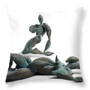 With Seed And Monarchs Hero Throw Pillow by Adam Long
