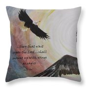 ...with Wings As Eagles Throw Pillow