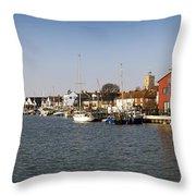 Wivenhoe Waterfront Panorama Throw Pillow