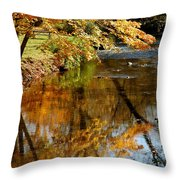 Wolcott River Reflections Throw Pillow