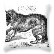 Wolf Attack Throw Pillow