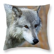 Wolf Profile Throw Pillow