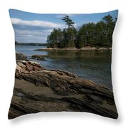 Wolfs Neck State Park Throw Pillow