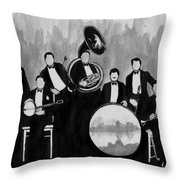 Wolverines Black And White Throw Pillow
